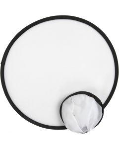 Frisbee, diam. 25 cm, hvid, 5 stk./ 1 pk.