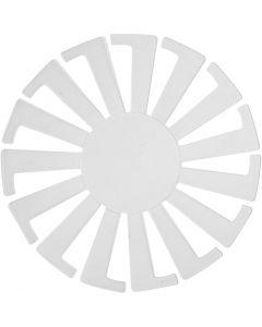 Flet-let-skabelon, H: 6 cm, diam. 8 cm, transparent, 10 stk./ 1 pk.