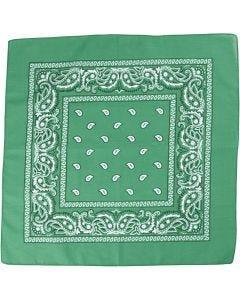 Bandana, str. 55x55 cm, mørk grøn, 1 stk.
