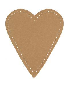 Hjerte, H: 12 cm, B: 10 cm, 350 g, natur, 4 stk./ 1 pk.