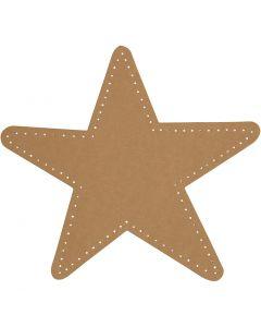 Stjerne, diam. 17 cm, 350 g, natur, 4 stk./ 1 pk.