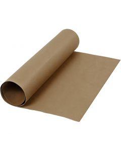 Læderpapir, B: 50 cm, ensfarvet, 350 g, mørk brun, 1 m/ 1 rl.