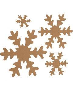 Snefnug, diam. 3+5+8+10 cm, 350 g, natur, 16 stk./ 1 pk.