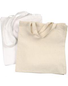 Mulepose , 135 g, hvid, lys natur, 2x10 stk./ 1 pk.