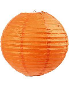 Rispapirlampe, diam. 20 cm, orange, 1 stk.