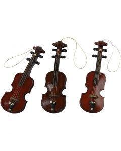 Violin, L: 8 cm, 12 stk./ 1 pk.