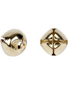 Bjælder, diam. 8+10+13 mm, guld, 18 ass./ 1 pk.