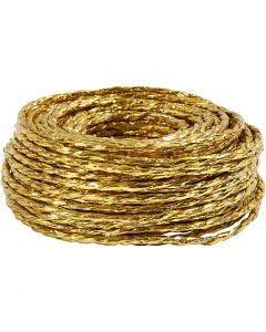 Papirgarn, tykkelse 3,5-4 mm, guld, 25 m/ 1 rl.