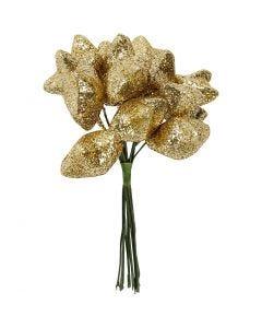 Stjerne, diam. 25 mm, guld, 12 stk./ 1 pk.