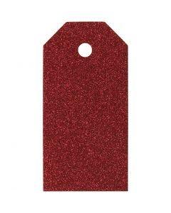Manilamærker, str. 5x10 cm, 300 g, rød, 15 stk./ 1 pk.