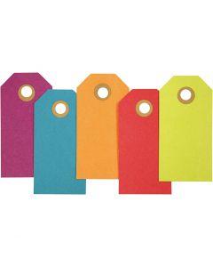 Manilamærker, str. 4x8 cm, 250 g, ass. farver, 20 stk./ 1 pk.