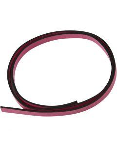 Imiteret læderbånd, B: 10 mm, tykkelse 3 mm, pink, 1 m/ 1 pk.
