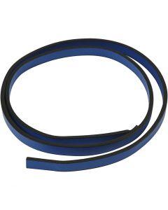 Imiteret læderbånd, B: 10 mm, tykkelse 3 mm, blå, 1 m/ 1 pk.