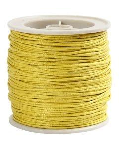 Bomuldssnor, tykkelse 1 mm, gul, 40 m/ 1 rl.