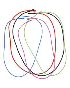 Snap halskæde, L: 46 cm, tykkelse 1,65 mm, ass. farver, 5 ass./ 1 pk.
