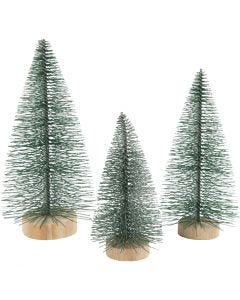Grantræer, H: 10+13+14 cm, 3 stk./ 1 pk.