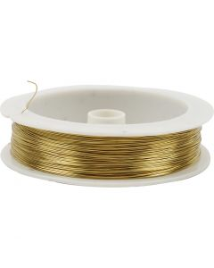 Messingtråd, tykkelse 0,3 mm, 70 m/ 1 rl.