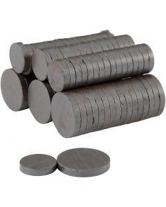 Magnet, diam. 14+20 mm, tykkelse 3 mm, 2x250 stk./ 1 pk.