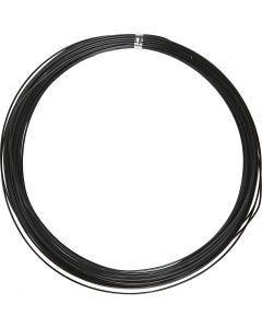 Bonzaitråd, rund, tykkelse 1 mm, sort, 16 m/ 1 rl.