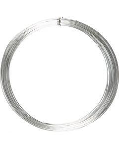 Bonzaitråd, rund, tykkelse 1 mm, sølv, 16 m/ 1 rl.