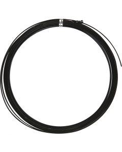Bonzaitråd, flad, B: 3,5 mm, tykkelse 0,5 mm, sort, 4,5 m/ 1 rl.