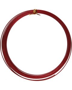 Bonzaitråd, flad, B: 3,5 mm, tykkelse 0,5 mm, rød, 4,5 m/ 1 rl.