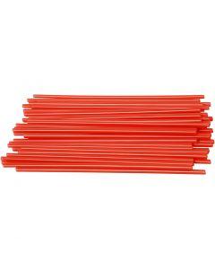 Konstruktionsrør, L: 12,5 cm, diam. 3 mm, rød, 800 stk./ 1 pk.