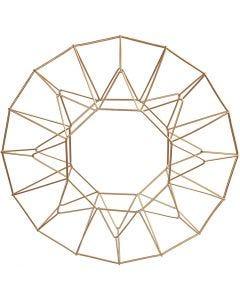 Metalophæng, ring, diam. 28 cm, messing, 1 stk.