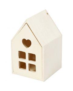 Hus med skuffe, H: 10,8 cm, dybde 6,8 cm, 1 stk.