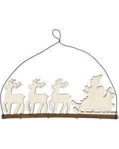 Juleophæng, kane med rensdyr, H: 8 cm, B: 22 cm, 1 stk.