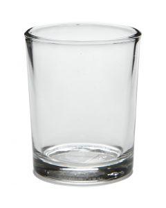 Fyrfadsstage, H: 6,5 cm, diam. 4,5 cm, 4 stk./ 1 pk.