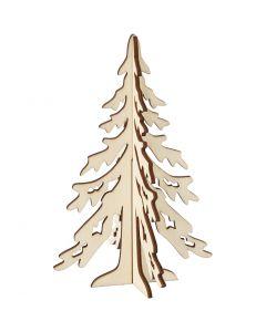 3D Juletræ, H: 20 cm, B: 13 cm, 1 stk.