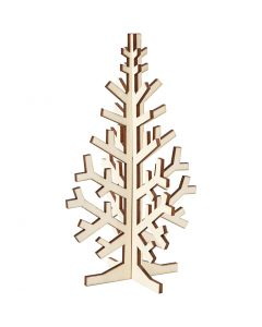 3D Juletræ, H: 20 cm, B: 12 cm, 1 stk.