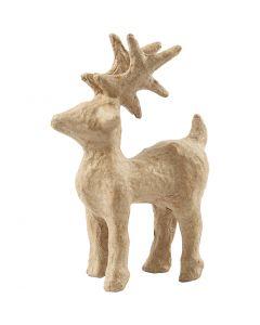 Rensdyr, H: 12,8 cm, L: 8,6 cm, 1 stk.