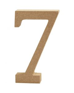 Tal, 7, H: 13 cm, tykkelse 2 cm, 1 stk.
