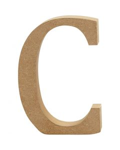 Bogstav, C, H: 8 cm, tykkelse 1,5 cm, 1 stk.