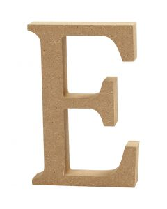 Bogstav, E, H: 8 cm, tykkelse 1,5 cm, 1 stk.