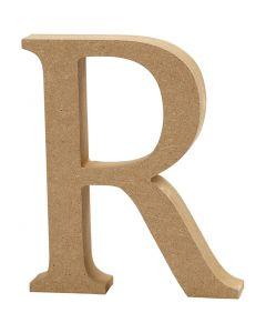 Bogstav, R, H: 8 cm, tykkelse 1,5 cm, 1 stk.
