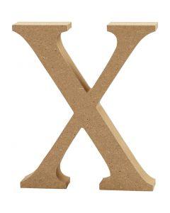 Bogstav, X, H: 8 cm, tykkelse 1,5 cm, 1 stk.