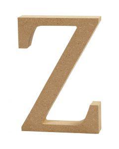 Bogstav, Z, H: 8 cm, tykkelse 1,5 cm, 1 stk.