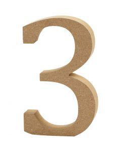Tal, 3, H: 8 cm, tykkelse 1,5 cm, 1 stk.