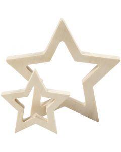 Stjerner, diam. 9+16 cm, tykkelse 20 mm, 2 stk./ 1 pk.
