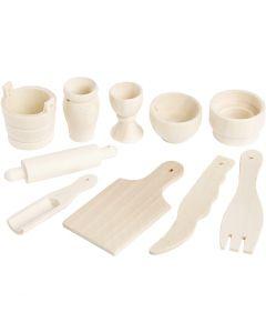 Køkkenredskaber, L: 40-60 mm, 10 stk./ 1 pk.
