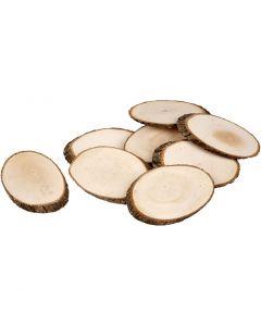 Træskiver, tykkelse 8 mm, Indhold kan variere, 12 stk./ 1 pk.
