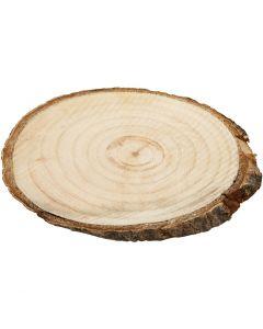 Træskiver, str. 9,5x6 cm, tykkelse 6 mm, 12 stk./ 1 pk.