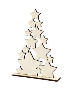 Juletræ, H: 29,8 cm, B: 21,5 cm, 1 stk.