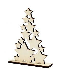 Juletræ, H: 19,6 cm, B: 14,7 cm, 1 stk.