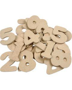 Tal, H: 4 cm, tykkelse 2,5 mm, 30 stk./ 1 pk.