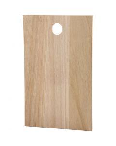 Træplade, str. 35x22 cm, tykkelse 13 mm, 1 stk.