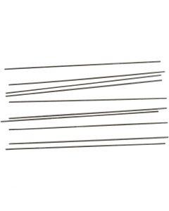 Metalstang, L: 20 cm, diam. 2 mm, 10 stk./ 1 pk.